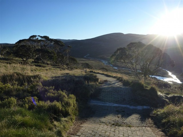 Track looking down to Snowy River